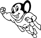 Mighty Mouse, Vinyl cut decal
