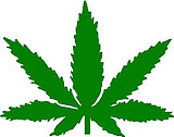 Marijuana Leave, Vinyl cut decal