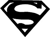 Super Man Logo, Vinyl cut decal