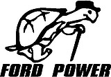 Ford Power, Turtle, Vinyl decal sticker