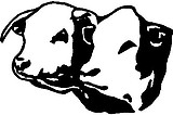 Two Calf Heads, Vinyl cut decal