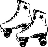Roller Skates, Vinyl decal sticker