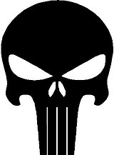 Punisher logo, Vinyl cut decal