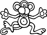 Monkey, Vinyl cut decal