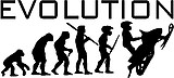 Evolution, Snowmobile, Vinyl cut decal