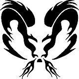 Tribal Flame Ram Head, Vinyl cut decal