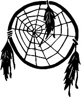 Dream Catcher with feathers, Vinyl cut decal