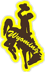 Wyoming Bucking Horse, Vinyl decal Sticker