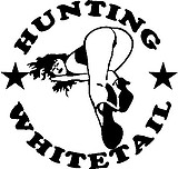 Hunting white tail, Vinyl decal Sticker