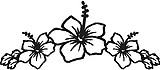 Hibiscus Flowers, Vinyl cut decal