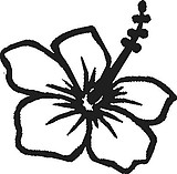 Hibiscus Flower, Vinyl cut decal