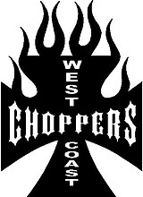 West coast choppers, iron cross, Vinyl decal sticker