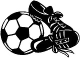 Soccerball and cleets, Vinyl decal sticker