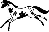 Native Pony, Horse, Vinyl cut decal