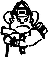 Fire fighter, Vinyl decal sticker