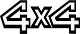 4x4, Vinyl decal sticker