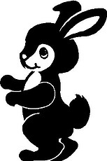 Bunny Rabbit, Vinyl cut decal