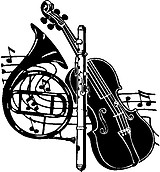 Musical Instruments, Vinyl cut decal