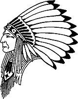 Indian Chief, Vinyl cut decal