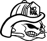 No Fear, Fire Fighter Skull, Vinyl cut decal