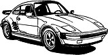 Porsche Car, Vinyl cut decal