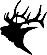 Elk Head, Vinyl cut decal