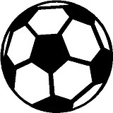 Soccer Ball, Vinyl cut decal
