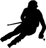 Skier, Vinyl cut decal