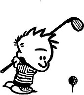 Calvin Golfing, Vinyl cut decal