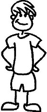 Guy, 5.1 inch Tall, stick people, vinyl decal sticker