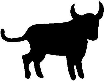 Bull, Vinyl cut decal