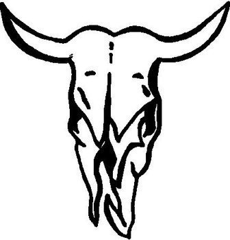 Bull Skull, Vinyl cut decal