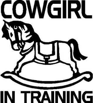 Cowgirl In Training, Rocking Horse, Vinyl cut decal