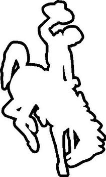 Wyoming Bucking Horse, Outline, Vinyl decal Sticker