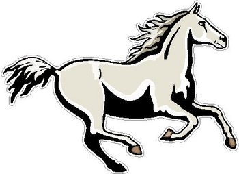 Galloping Horse, Full color decal