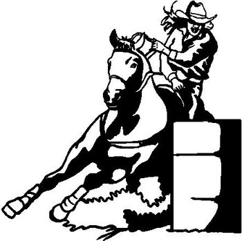 Barrel Racing, Vinyl cut decal