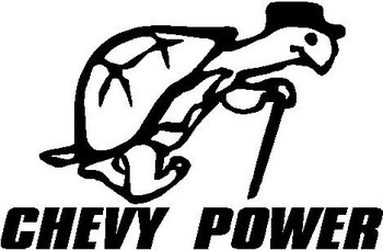 Turtle, Chevy power, Vinyl decal sticker